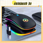 Led Optical Wireless Mouse Cordless Mice For Pc Laptop Computer 2.4ghz Games Au