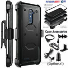 For ZTE Zmax Pro Z981/Blade X Max Z988 Hybird Stand Armor Case Cover W/Accessory
