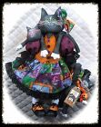 "~Primitive ""Jynx"" Halloween Cat w/Kittens~PATTERN #87"