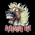 STRESSED OUT HORSE FUNNY HORSE SHOW T-SHIRT WS312