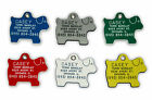 Puppy Shape Plastic Pet Dog ID Tag Free Engraving Choose From 3 Sizes & 6 Colors