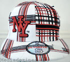 NEW BLING HIPHOP WHITE FITED FLAT PEAK BASEBALL HAT CAP