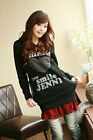 New Womens Hoodie Sweatshirts Long Top Heart Smile E722