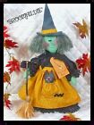 "Primitive Halloween Witch ""Broomhildie"" Pattern #409"