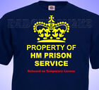 Property Of HM PRISON SERVICE JOKE  MENS Cotton T-Shirt