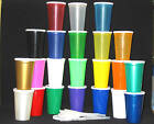 50 -16 oz DRINKING GLASSES LIDS STRAWS CUPS TUMBLER MFG USA LEAD FREE