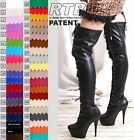 Fetish Platform Dance Knee/Thigh/Crotch Boot PVC PATENT
