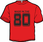 "Funshirt, T-Shirt, S M L XL XXL - 5XL ""Made in the 80s"""