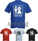 GAME OVER MARRIAGE T-SHIRT WEDDING STAG PARTY DO GROOM