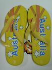 AUSTRALIAN SOUVENIR FLIP FLOP,THONGS Yellow Flag Design
