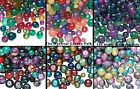 6 Assortments: Metallic,Speckled, Opaque & Transparent Glass Beads  Approx. 650