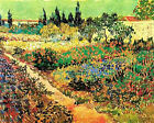 "Vincent Van Gogh- Flowering Garden with Path - 20""x26""   on Canvas"