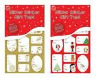 100 x Christmas Xmas Red & Green Glitter or Foil Silver & Gold Sticker Gift Tags