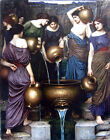 "The Danaides  by John William Waterhouse-  20""x26"" Art on Canvas"
