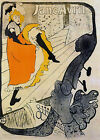 "Jane Avril by Toulouse-Lautrec - 20""x32"" Art on Canvas"