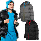 URBAN CLASSICS KIDS KINDER HOODED BUBBLE LONG JACKE WINTERJACKE GEFÜTTERT PARKA