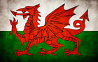 "Flag of Wales -Welsh Flag 24""x36"" Canvas Wall Art Print"