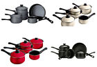 NEW 5PC ENAMEL NON-STICK FLAIR COOKWARE SAUCEPAN SET AVAILABLE IN 4 COLOURS