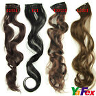 Cheap One piece Womens curly wavy Clip in on Hair Extensions Hairpiece IN 4Color