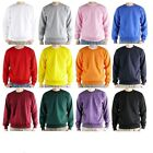 Mens S-XXL Heavy Cotton Blend pullover Crewneck Sweatshirt Jumper Top  Hoodie