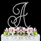 Crystal Monogram Initial Wedding Cake Topper Top