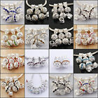5pcs Charming Crystal Rhinestone Dangle Beads Fit European Bracelets 16 colors
