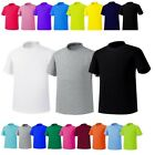 19colors Plain Blank Short Sleeve CrewNeck Solid Pure Cotton T-Shirt Basic Top U