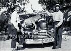 5x7 1947 HUNTERS RIFLE HUGE MULE DEER BUCK HOOD OF OLDSMOBILE CA HUNTING PHOTO