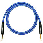 Custom Length Electric Guitar Leads* Neutrik Gold Jack Plugs Blue VanDamme Cable