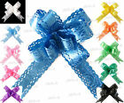 10 x SMALL BEAUTIFUL PULL BOWS WITH PERFORATED EDGES, WEDDING/PARTY/GIFTWRAP