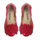 NEW Girls Flat Ballet Leather Shoes Approx: 3-10 Yr sz 8-13 and 1-2-3
