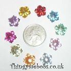 30 RHINESTONE RIPPLE FLOWER/FLOWERS EMBELLISHMENTS - COLOUR OPTIONS - CRAFTS