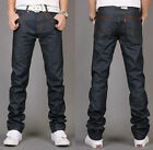 NEW MENS SLIM FIT JEANS TROUSERS DARK BLUE 28-36 A033