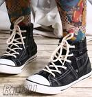 Stonewash Black Gray Denim Jeans Ankle Hi Top Punk emo Sneaker Men/Women Boot