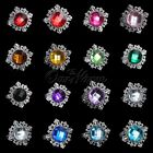 12 Diamond Gem Napkin Ring Serviette Holder Wedding Party Table Decoration Favor