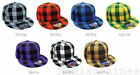 BRAND NEW CHEQUERED PLADDED ETHOS RETRO HIP HOP FLAT PEAK BASEBALL HATS CAPS
