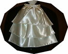 "New 3 tier jabot ascot tie satin fabric 16""x16"""