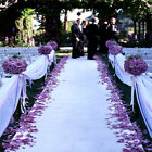 125 ft Fine Wedding Bridal Satin Aisle Runner 22 Colors Decoration Made In USA