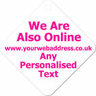 Business Website Personalised Car Window Sign Shop Sign Advertising Metal