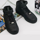 hta02 basic HI-TOP Homme sneakers black  for women and men