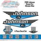 2000 Johnson OceanPro 150, 175, 200, 225, 250, 300 Outboard  Olympic Blue Decals