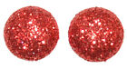 SMALL MEDIUM or LARGE GLITTER DOTS STUD EARRINGS ~ 19 COLRS ~ 3 SIZES ~ U PICK