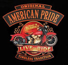 AMERICAN PRIDE MADE IN MILWAUKEE BIKER RIDER BIKER SLEEVELESS T SHIRT