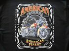 AMERICAN BIKER RIDER T SHIRT M TO 6XL BLACK OR GRAY