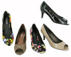 Womens Mid Heel Peeptoe Court Shoes Ladies Party Prom Pumps Shoes Uk Size 3 - 8