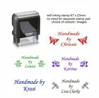 PERSONALISED 4912 HANDMADE BY RUBBER STAMP SELF INK,CRAFTS HOBBY CARD MAKING ETC