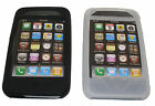 Scosche IP3GS2 iPhone 3G & 3GS Soft Silicon Case/Skin Black & Clear (2 Pieces)