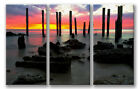 CANVAS ART - Stunning Sunset Beach 3 Panel