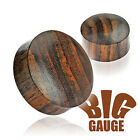 Organic Brown wood Ear Stretcher Saddle Taper / Plug - Choose Size
