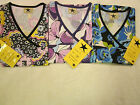 NWT Black Star Stretch Panel and Non Stretch Panel Nurses Scrub Tops
